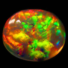 5x4 MM OVAL TOP SUPER RAINBOW ELECTRIC ETHIOPIAN FIRE WELO OPAL WHOLESALE PRICE