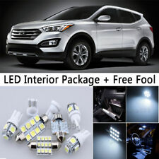 10X Bulb Car LED Interior Lights Package For 2007-2012 Hyundai Santa Fe White NQ