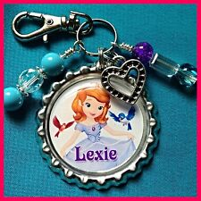 Personalized SOFIA THE FIRST Bottle cap, Name Necklace, Jewelry, Zipper Pull