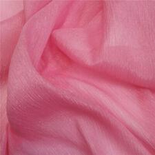 Crinkle Chiffon Fabric Crepe Georgette Sheer Dress Curtain Drapery Material