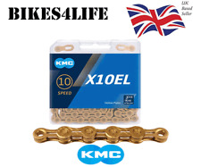 KMC X10EL Gold 10 Speed Chain 114 Links Bicycle Campagnolo Shimano SRAM (Boxed