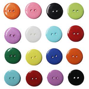 Smartie Buttons Polyester Round 2 Hole Colour Size Quantity Choice Flat Button