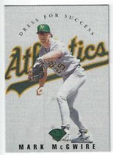 1997 Leaf Dress For Success #9 Mark McGwire Oakland Athletics /3500 A's Insert