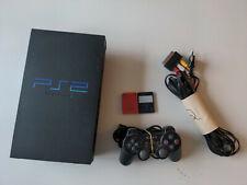 Playstation 2 Konsole mit Controller und zwei Speicherkarten
