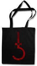 SATANIC CROSS SHOPPER SHOPPING BAG Symbol Pentagram 666 Sign Church of Satan