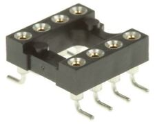 Preci-Dip 2.54mm Pitch Vertical 8 Way SMT Turned pin Open Frame IC Dip Socket, 1