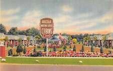 Paramus New Jersey Arcola Motor Lodge Linen Antique Postcard J47480