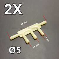 For Mustang Plastic Vacuum Hose Splicers Connectors Windshield Washer Fluid 7mm