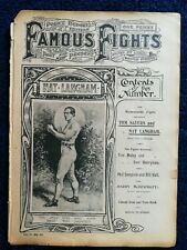 1900s Antique Famous Fights Boxing Newspaper # 22 Nat Langham + Poster!