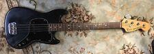 Tarde década de 1970 Fender Musicmaster Bajo Eléctrico Guitarra Negro Vintage Usa