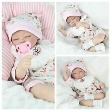 "16"" Reborn Baby Dolls Handmade Newborn Lifelike Vinyl Silicone Sleeping Girl Toy"