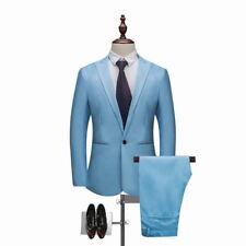 Mens One Botton Suit(Jacket+Pant) Groom Tuxedos 2PCs Suit Tailoring Wedding Suit