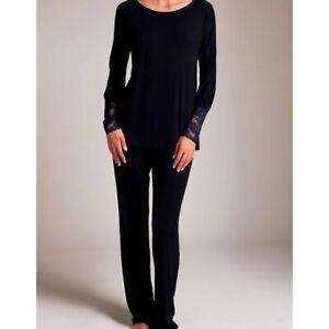 La Perla Black Amelia Pajama In Size 1. Fits Xmall and Small
