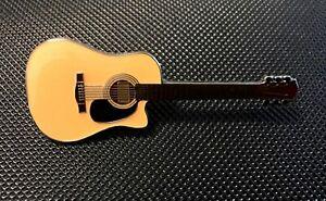 ACOUSTIC GUITAR ENAMEL PIN BADGE GREAT GIFT FOR MUSIC LOVERS (PB67)
