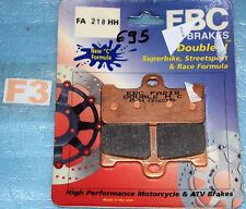 2 plaquettes de frein avant EBC Sinter Aprilia SXV 450 550 Van den bosch replica