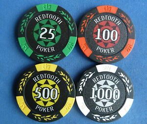 SET OF 4 REDTOOTH CASINO POKER CHIP BALL MARKERS