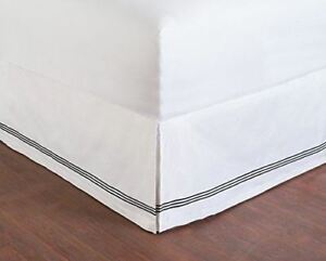 Wickham Linear Embroidered Bed Skirt Multiple Colors and Sizes
