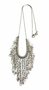 """.925 STERLING SILVER Waterfall Pendant Necklace, 14"""" Chain, 11.4g - H33"""