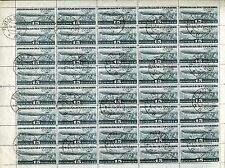 RUSSIA YR 1932,SC C25,MI 406,USED,FULL SHEET,NO WMKS,ZEPPELIN