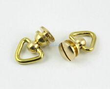 10Pcs 17mm Solid Brass Triangle D Ring Swivel Head Rivet Back / Brass