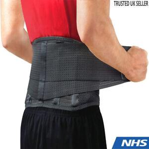 Lower Back Support Belt Brace Lumbar Waist Adjustable Strap Pain Relief