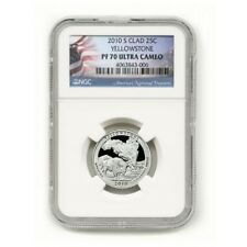 USA Yellowstone State Park Clad Quarter 2010 S  PF  70 Ultra Cameo