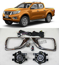 Suits Nissan NAVARA NP300 Driving Fog Lights Lamps Complete Kit 2014-2017
