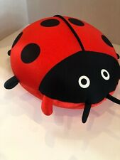 "Ladybug Red & Black Silky Soft & Smooth Beanbag Plush 12"""