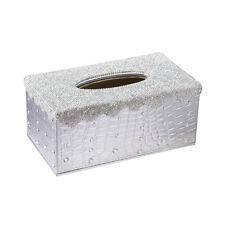 Premium Shiny Tissue Box Cover Rectangular Holder for Home Car Office Decor