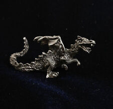 Vintage Gallo Miniature Mythical Pewter Metal Flying Dragon Figurine Statue