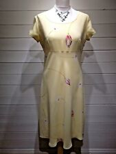 Together Dress ~ Size 14 ~ Yellow Floral ~ Cap Sleeve - Casual Party ~ 1753
