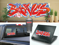 Atlanta Braves Graffiti Baseball Vinyl Car Laptop Wall Cellphone Sticker Decal