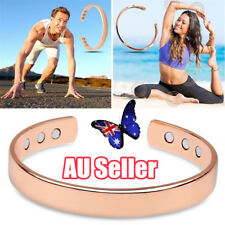 Bio Healing Copper Magnetic Therapy Bracelet Arthritis Pain Relief Bangle BK