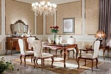 6 Stühle Set Esszimmer Designer Holz Stuhl Garnitur Antik Stil Barock Rokoko E70