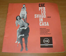 CGE catalog for the Entertainment Home 1962 televisions radioricevitori radiofonografi