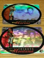 MONTANA & MARINO 1996 SPX Tribute & Record Breaker Hologram 2 card Insert Lot $$
