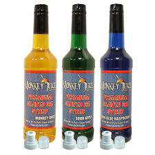 You Choose Flavors - 3 Bottles of Snocone Syrup - PURE CANE SUGAR