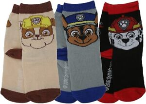 1 Pair Of Paw Patrol Boys Socks. 3 Designs. Shoe Sizes 6-8.5, 9-12 and 12.5-3.5.