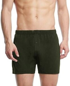 12 Pairs Men Loose Comfy Boxer Shorts Classic Cotton Button Fly Underwear