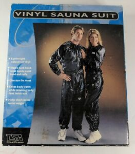Sauna Suit Elastic One Size Fits Most Black TSA 🆕 Old Stock *See Pictures*