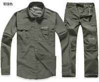 Men's Quick-Drying Shirts & Pants Outdoor Sports Removable Sleeve & Legs TS-070
