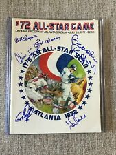1972 All Star Game Program signed by 6, Brooks Robinson, Earl Weaver, Cookie Roj