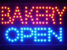 led121-r Bakery OPEN Shop Cafe Led Neon Sign WhiteBoard