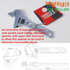 Japan Style Stubby Adjustable Wrench Shifter 3mm Slim Jaw Open 32mm Pocket Size