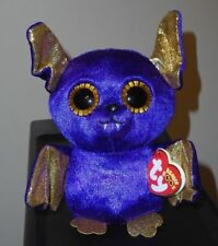 "Ty Beanie Boos - COUNT the 6"" Purple Halloween Bat ~ 2018 NEW MWMT ~ IN HAND"