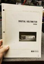 HP 03456-90005 Model 3456A Digital Voltmeter Operating Manual