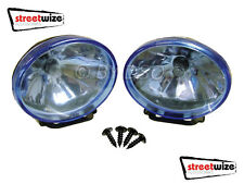 Streetwize 12V 3.5 x 2.5 inch Ice Blue Halogen Lamps for Cars vans 4x4 UK STOCK