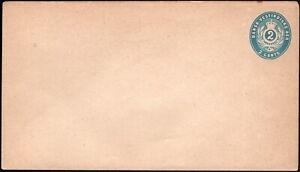 Danish West Indies - 1878 - 2 Cents Light Blue Postal Stationery Entire #U1 Mint