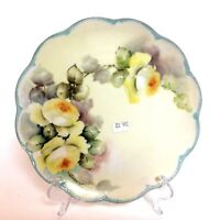 Haviland Hand Painted Yellow Rose Plate