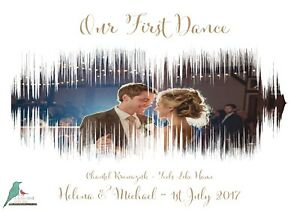 First Dance Wedding song sound wave personalised photograph print